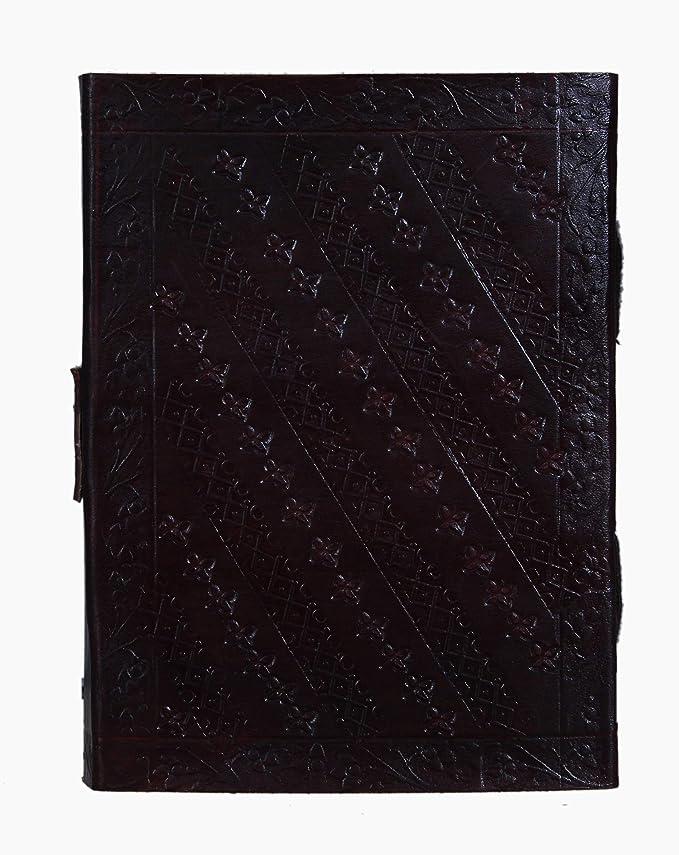 Amazon.com: Trendy Crafts - Diario de piel hecho a mano en ...
