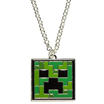 Amazon jinx minecraft creeper face pendant necklace for teen jinx minecraft creeper face pendant necklace for teen girls and women aloadofball Gallery