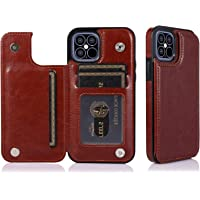 TERSELY Leather Wallet Card Case Cover for Apple iPhone 12 Pro Max 6.7 Inch, Leather Pouch Slim Ultra Thin Magnetic Hard…