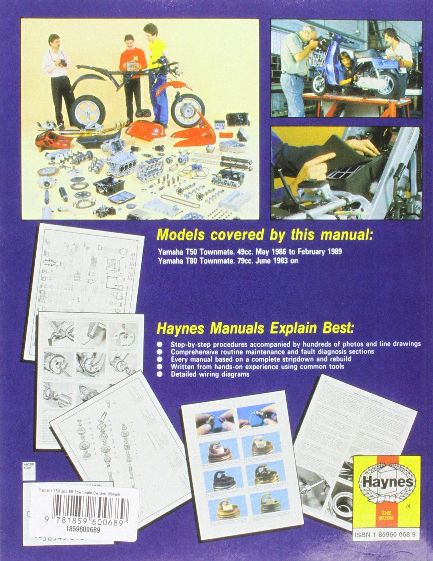 Yamaha T50 & 80 Townmate (Motorcycle Manuals) (Haynes Owners Workshop  Manuals): Pete Shoemark: 9781859600689: Amazon.com: Books