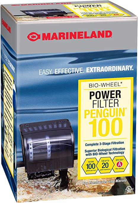Amazon.com : MarineLand Penguin 100 Power Filter, 10-20 Gallon, 100 GPH (PF0100B), Black : Aquarium Filters : Pet Supplies