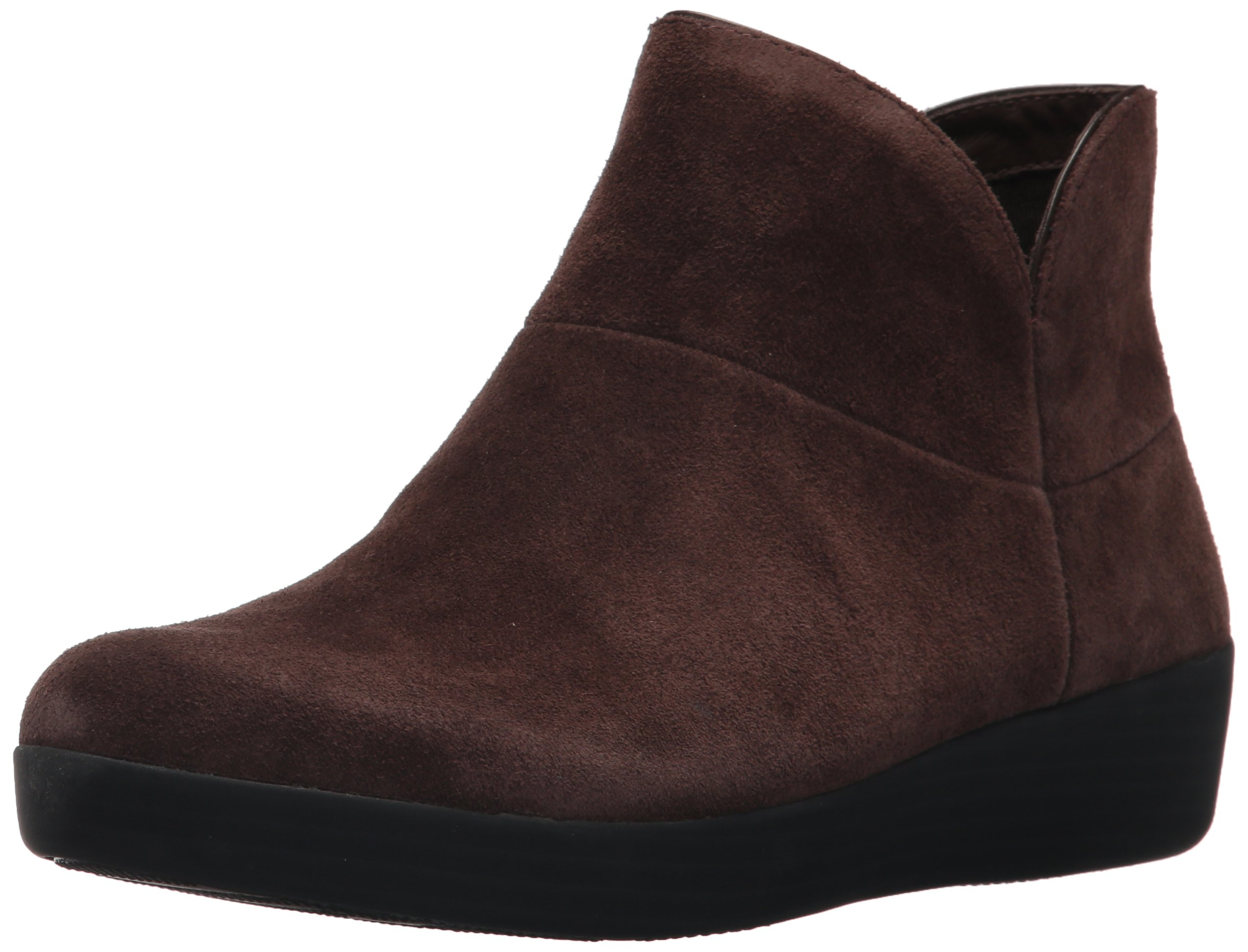 FitFlop Women's Supermod II Suede Ankle Boot, Chocolate, 9 M US