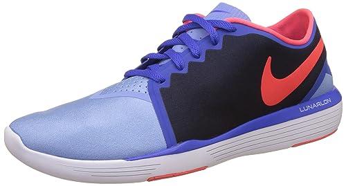 Nike Women's Wmns Lunar Sculpt, CHALK BL/BRIGHT CRIMSON-OBSIDIAN-RACER,