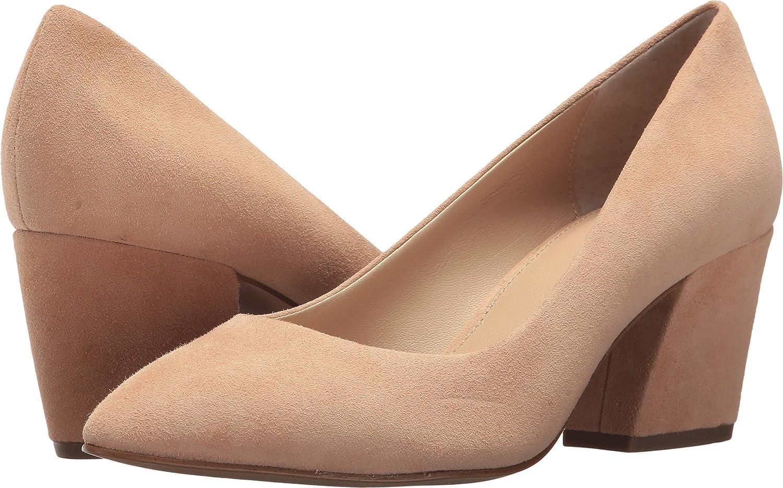botkier Women's Stella Block Heel Pumps B078JBR96M 6.5 B(M) US|Sand Suede