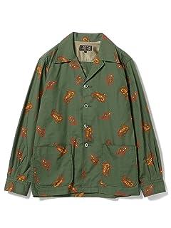 Paisley Cotton Camp Shirt Jacket 11-16-1303-139: Green