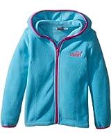 Puma Kids Womens Solid Polar Fleece Zip Front Hoodie (Little Kids)