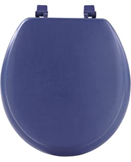 Bemis SLOWT  Slow Close StaTite Round Closed Front Toilet - Blue soft close toilet seat