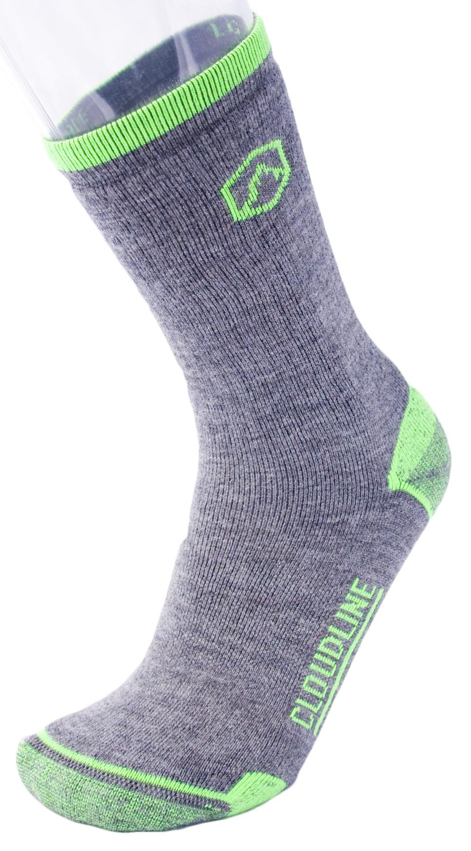 ac2fd8c5f1f0b CloudLine Merino Wool Crew Hiking & Trekking Socks – Medium Cushion – for  Men & Women