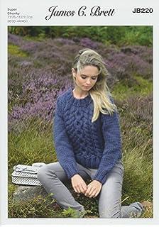 448c97d7802e5 James Brett Womens Amazon Super Chunky Knitting Pattern Ladies Long Sleeved  Sweater…