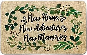 Occdesign Housewarming Door Mat for Front Door Farmhouse Rustic Decorative Entryway Outdoor Floor Doormat Gift Durable Burlap Outdoor Rug | New Home Adventures Memories