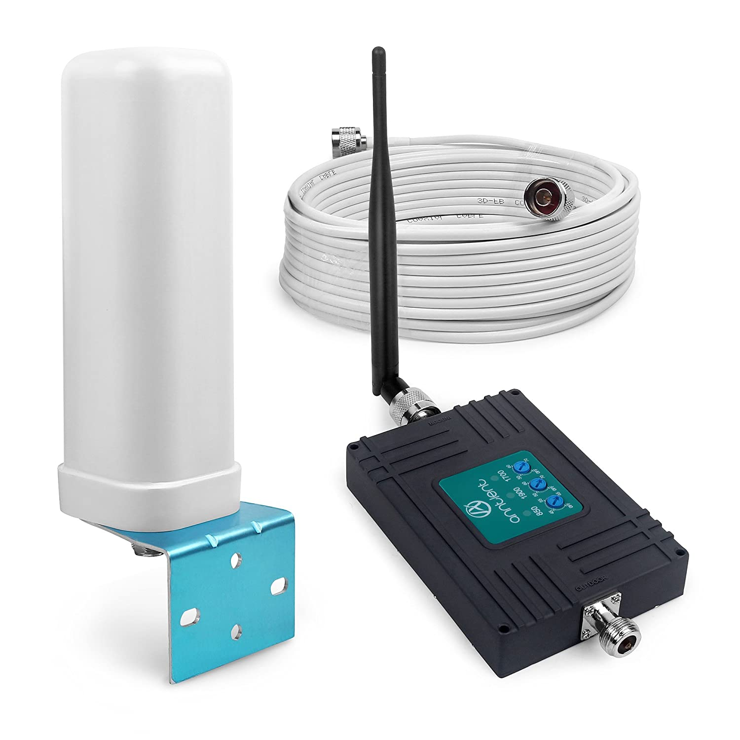ANNTLENT Tri-Band Cell Phone Signal Booster Kit for Remote Area - Boosts 2G 3G 4G LTE Signal ANNTLENT.Ltd