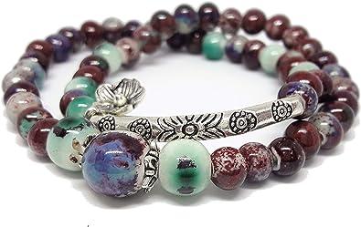 Multi-couleur pierre naturelle de Positivité Bracelet-LIVRAISON GRATUITE