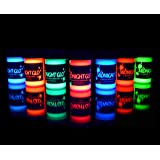 UV Neon Face & Body Paint Glow - Top Rated Blacklight Reactive Fluorescent Paint - Safe, Washable, Non-Toxic, Great For Raves, Parties, Festivals! By Midnight Glo