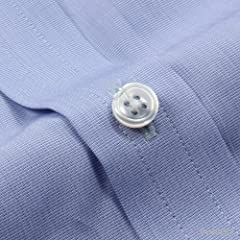 Turnbull & Asser End-on-End Cotton Shirt with Classic T&A CollarMSHI072: Z1014 Blue