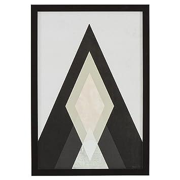 Amazon.com: Rivet Modern Abstract Diamond Print I, Black Frame, 14 ...