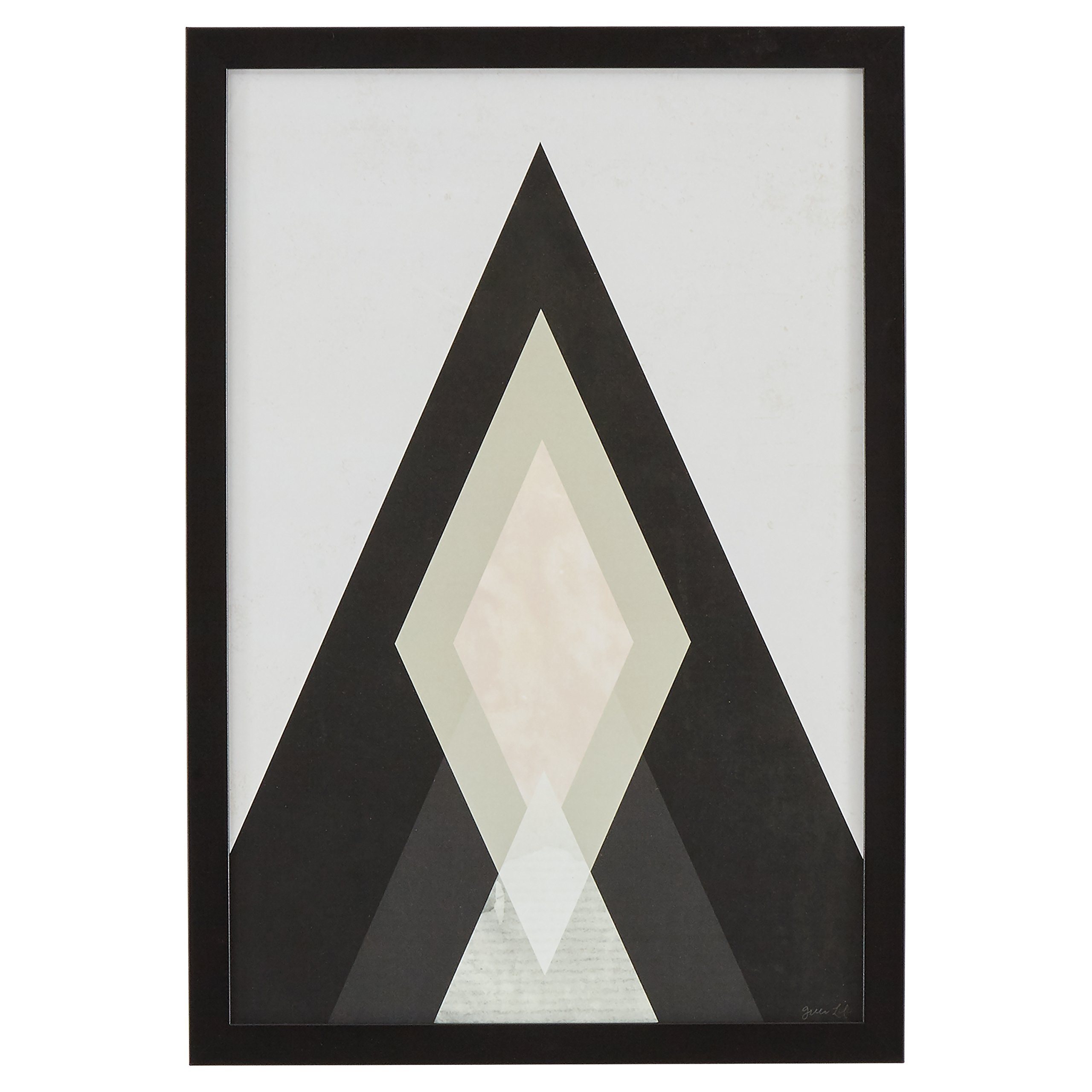 Rivet Modern Abstract Diamond Print I, Black Frame, 14'' x 20''