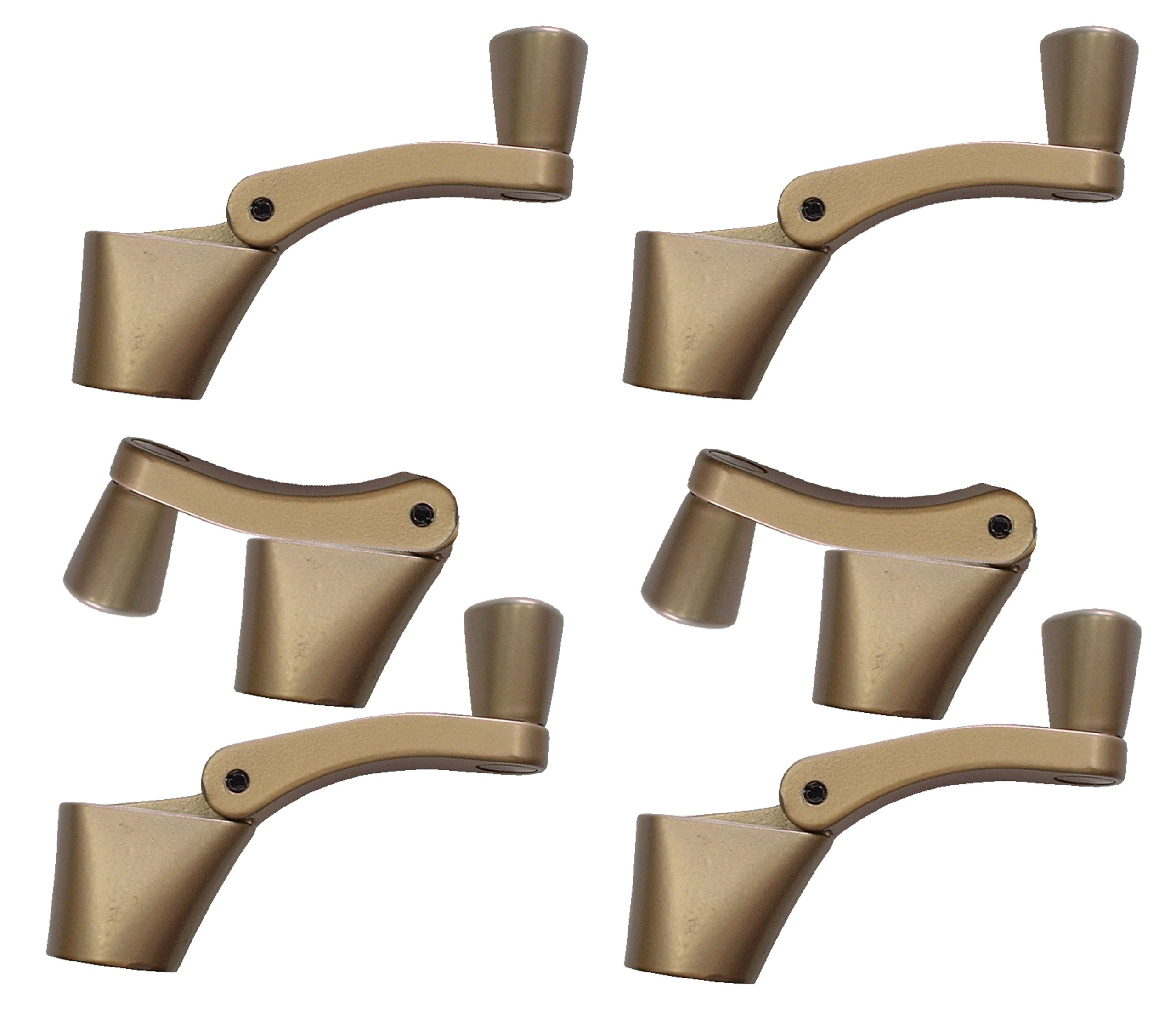 Ideal Security SK927B-6 Fold Away Handle Window Crank, Bronze, 6-Pack