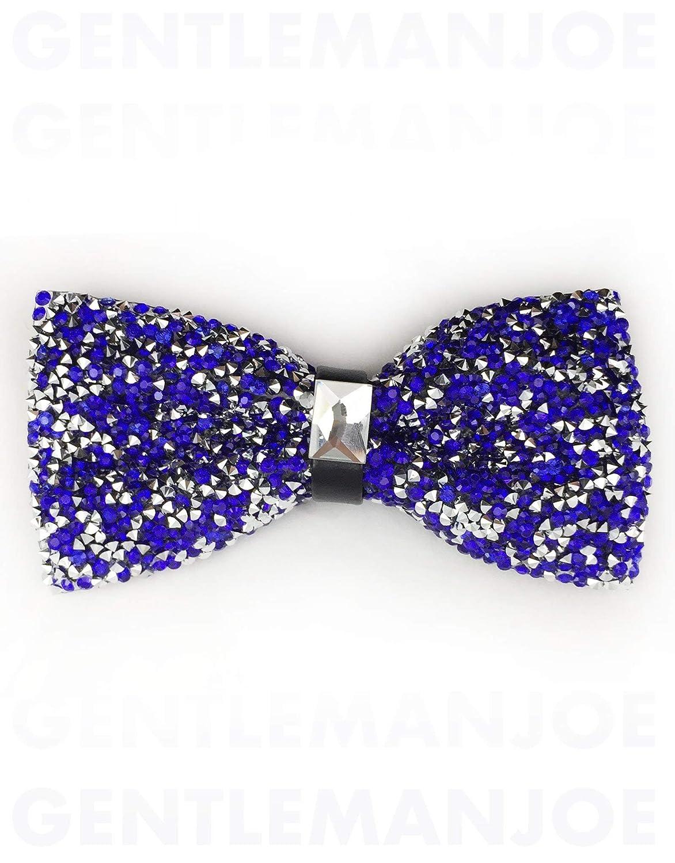 Gentleman Joe Crystal Sparkly Blue Indigo Bowtie Multicolored