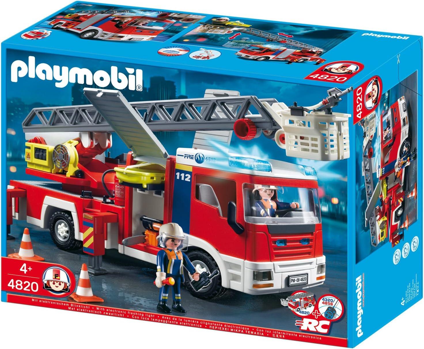 PLAYMOBIL Feuerwehr Fahrzeug Spielzeug Auto mit Licht