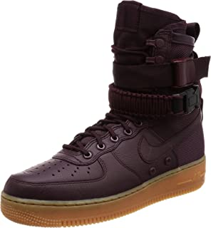 huge discount 492ac 4d6b9 Nike Damen SF Air Force 1 Schwarz Leder Stiefel: Amazon.de: Schuhe ...