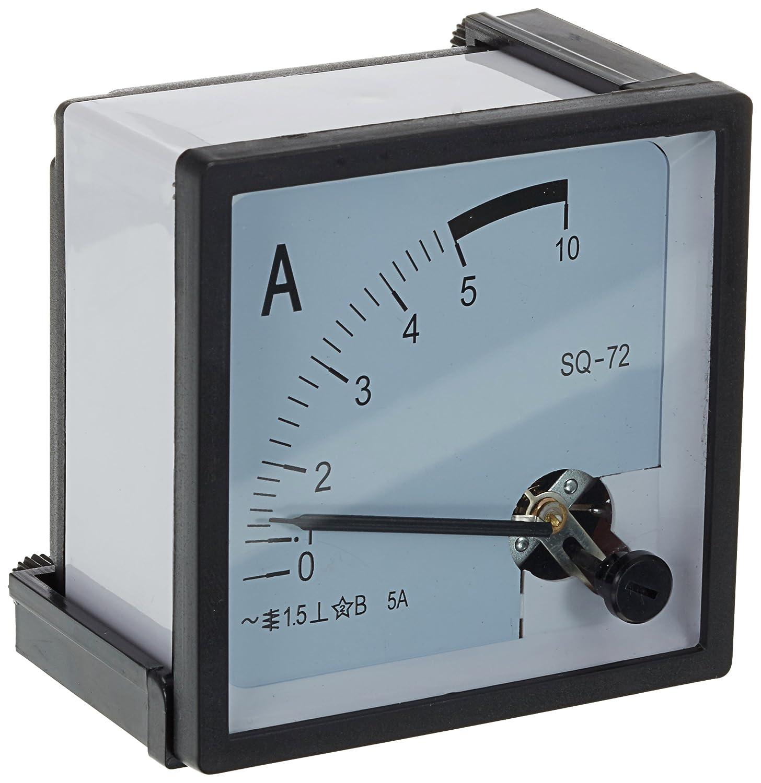 Carré de transport de Palettes 0–5A AC analogique pour ampèremètre 72 mm x 72 mm Sourcingmap a14052400ux0115