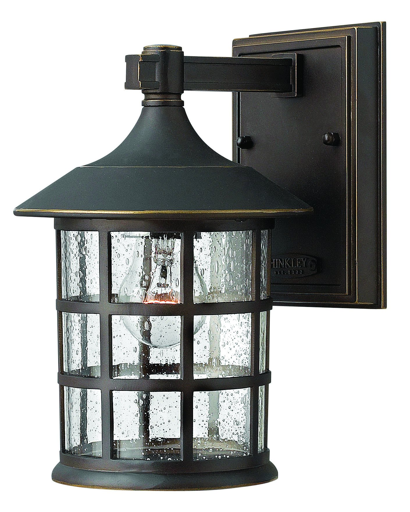 Hinkley 1800OZ Traditional One Light Wall Mount from Freeport collection in Bronze/Darkfinish,