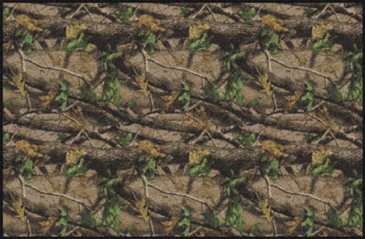 Milliken Realtree Hardwoods Green Area Rug 5 4 x7 8 Brown