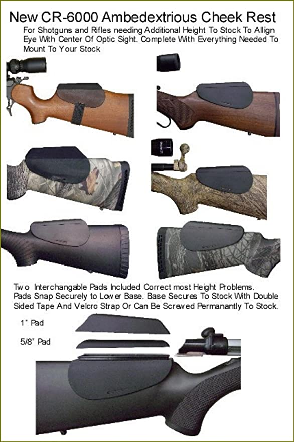 8f7a199fe321a Amazon.com   Warner s Sporting ACCU-RISER MOLDED BLACK CHEEK REST   Gun  Stock Accessories   Sports   Outdoors