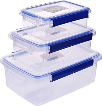KPROE Food Storage 3 Containers with Lids