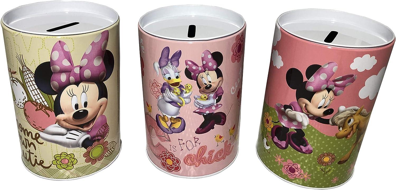 The Tin Box Company Set of 3 Minnie Mouse Kids Coin Saving Money Banks. Home Grown Cutie, Daisy, Pony