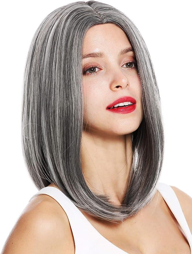 WIG ME UP- 1960 peluca de mujer pelo al hombro liso raya en ...