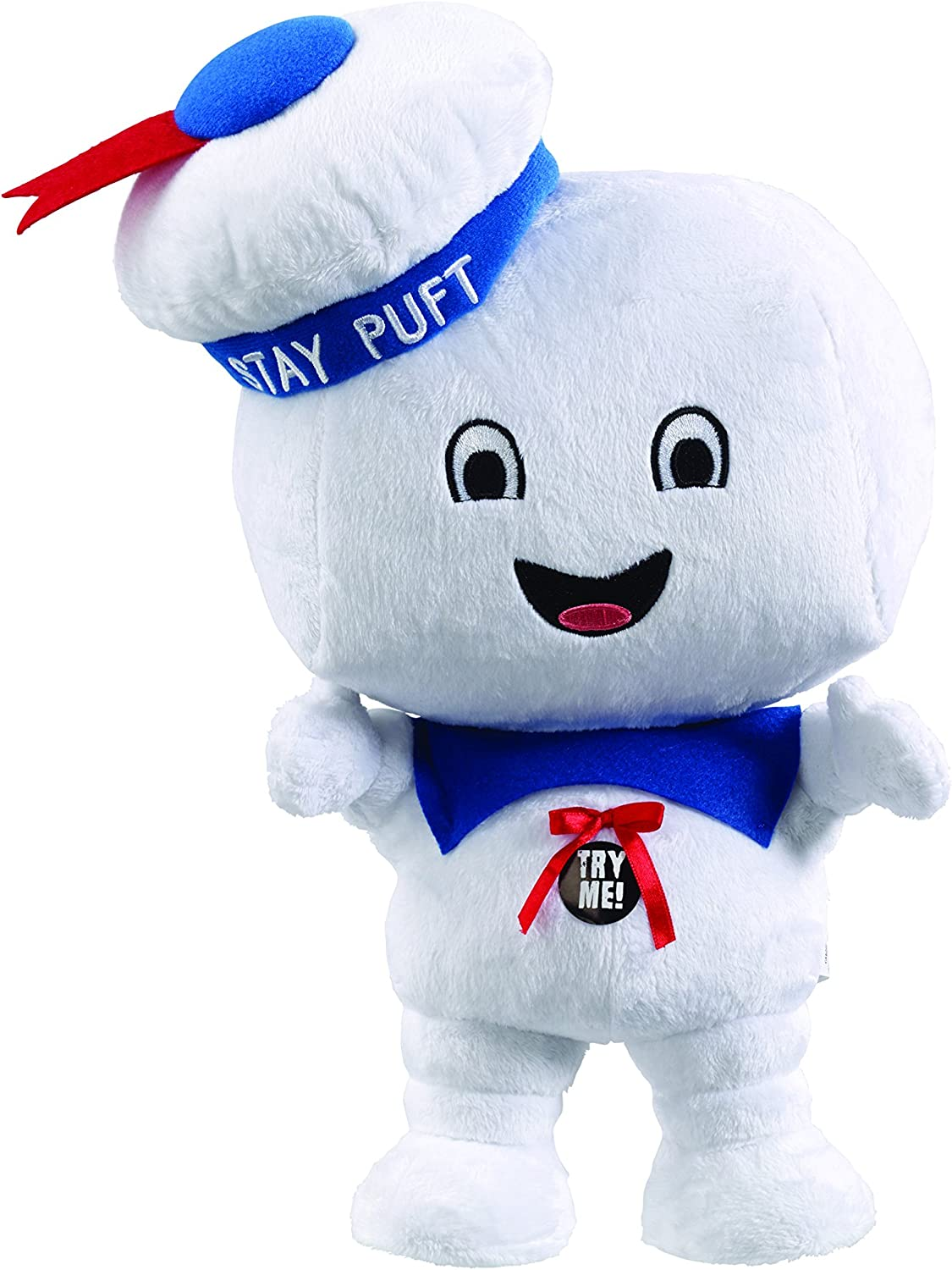 """Ghostbusters Stay Puft Marshmallow Man Happy Face 4/"""" Talking Plush"""