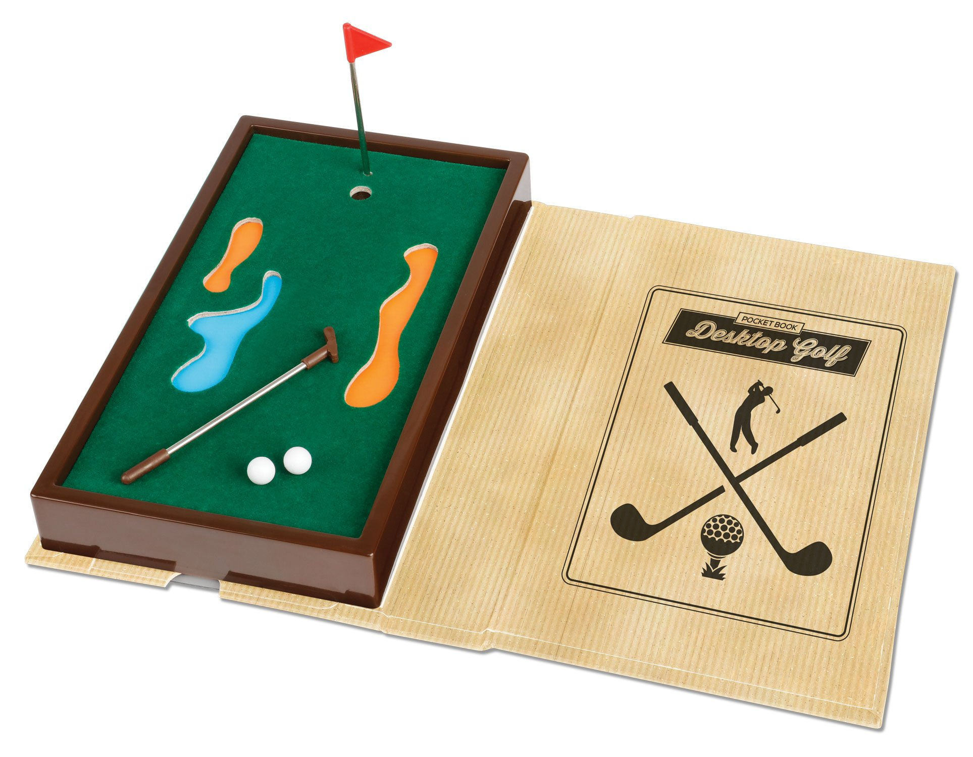 Mini Pocket Book Golf Game - Best of Fun Travel Tabletop Miniature Games Toys for Kids Children Boys Girls Adults Family - Player Brain Challenge - Outdoor Indoor Office - Birthday Party Favor