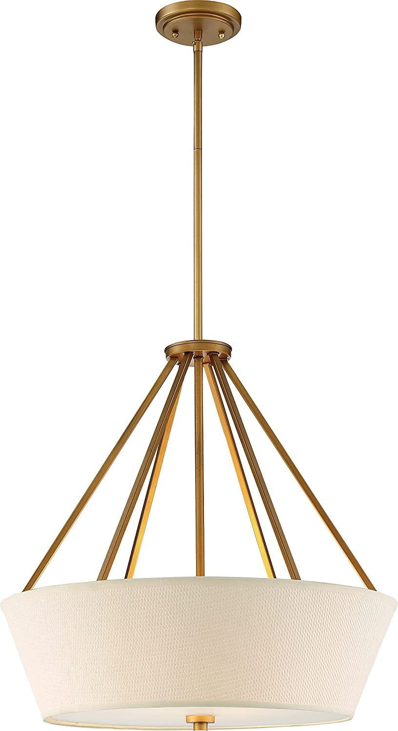 NUVO 60 5841 Four Max 71% OFF Light Recommended Brass of Pack 1 Pendant