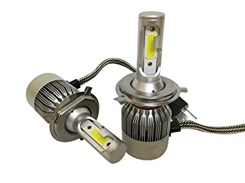 H4 LED 72W 7600LM Bombillas Led para Faros Delanteros de Coche, Kit LED H4 6500K