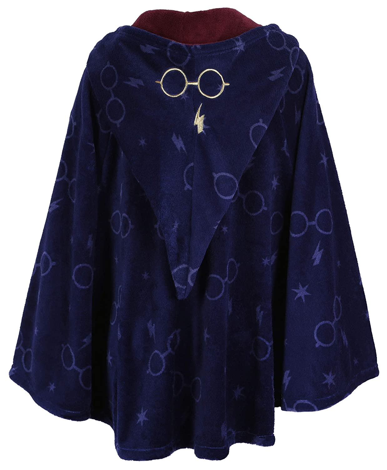 Navy Blue Soft /& Fluffy Hooded Poncho for Ladies Harry Potter