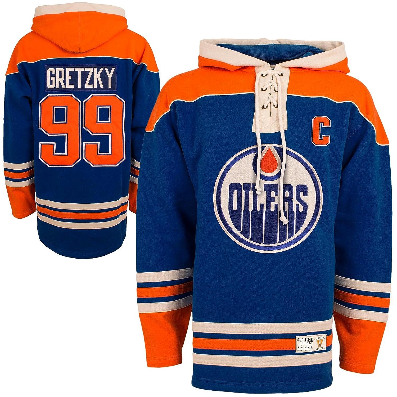 d811feab4 nhl hoodies edmonton oilers 99 wayne gretzky royal blue old time ...