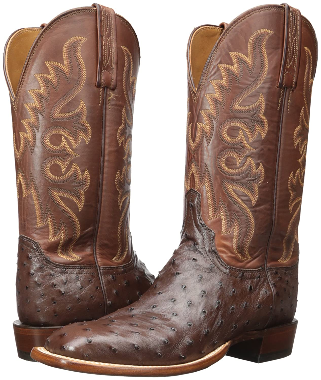17a197c79d Lucchese Bootmaker Hombres Harmon Western Boot Sienna   Tan Burnished