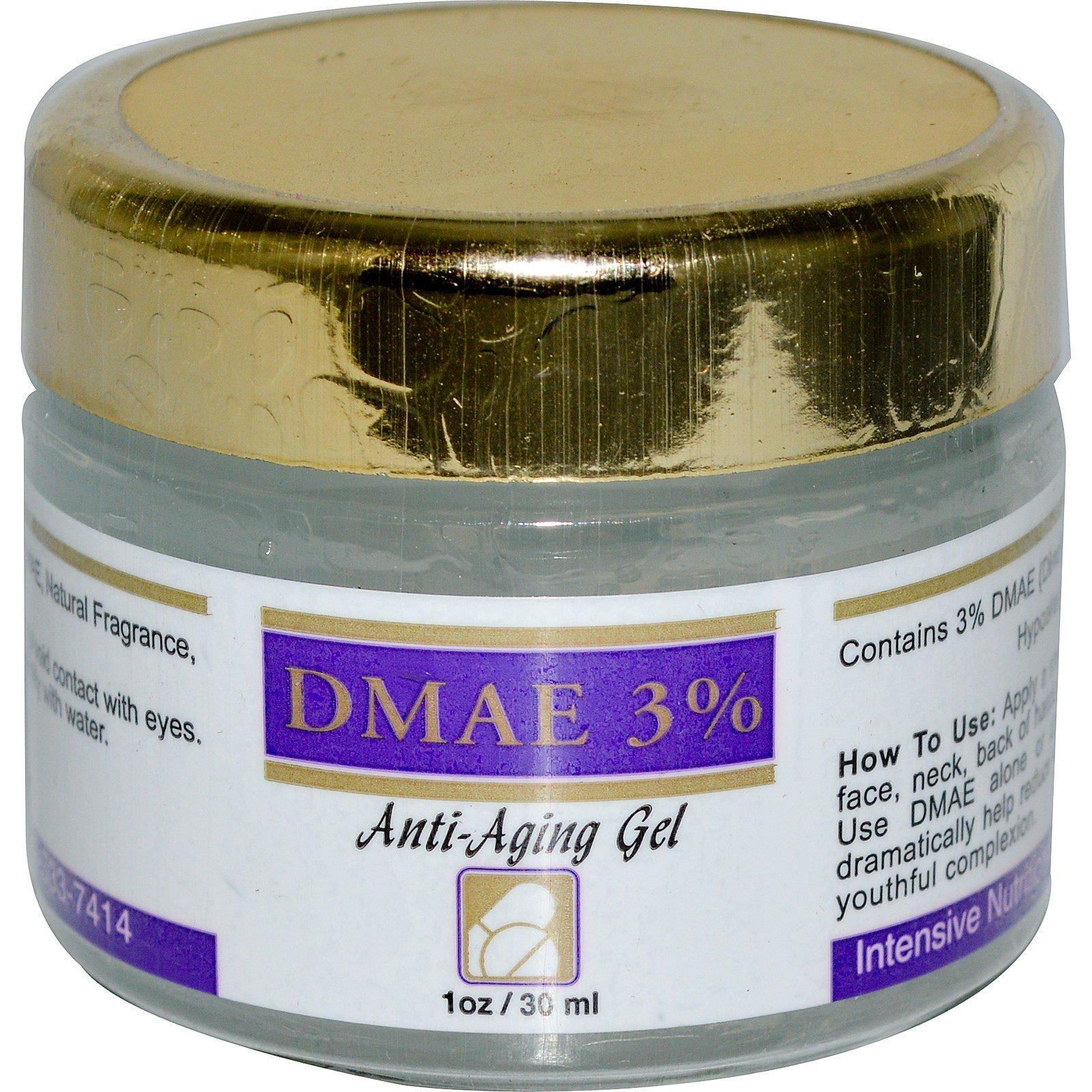 Intensive Nutrition, DMAE 3%, Anti-Aging Gel, 1 oz (30 ml) - 3PC