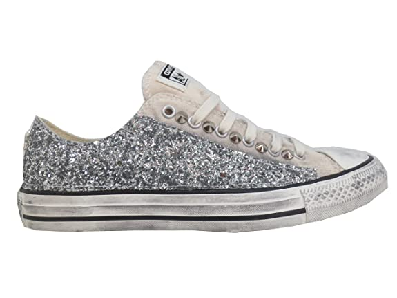 All Sunset Converse Argento Glitter Parchment Wash Star Basse Ox OxdwUHx