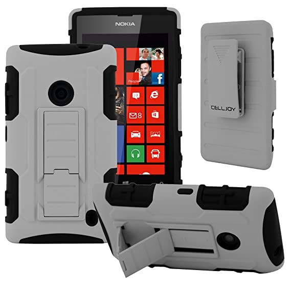 online store e8798 6eca3 NOKIA Lumia 520 Case, CellJoy [Future Armor] (Gray) Nokia 520 Hybrid Cases  Full Body Dual Protective Cover [Heavy Duty] Kickstand Case ...