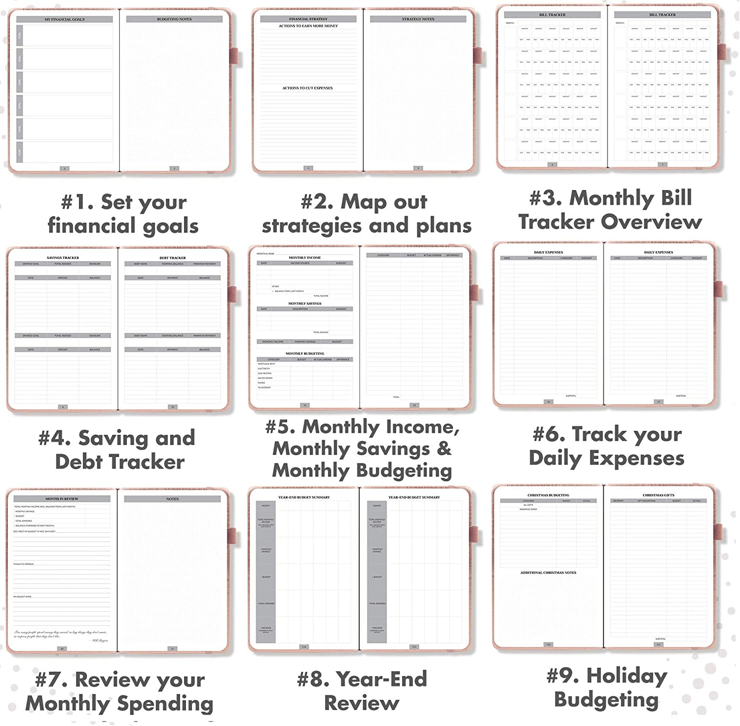 Gorgeous Monthly Budget Planner The Perfect Monthly Budgeting Book That Manages Your Finances Effectively Easy to Use 12 Month Financial Organizer with Expense Tracker Notebook