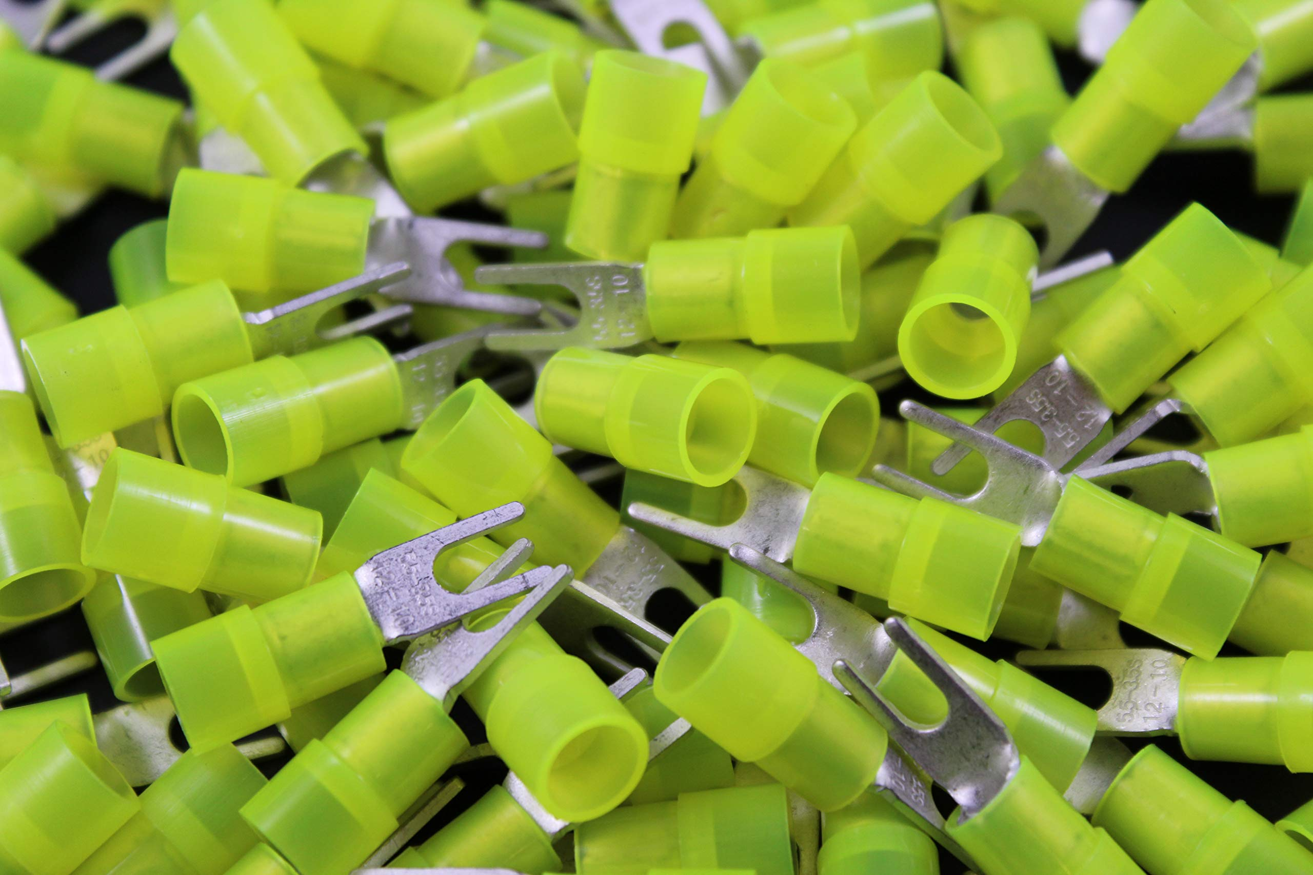 10-12 Gauge Nylon Spade # 6 Connector 500 PK Crimp Terminal AWG Electrical