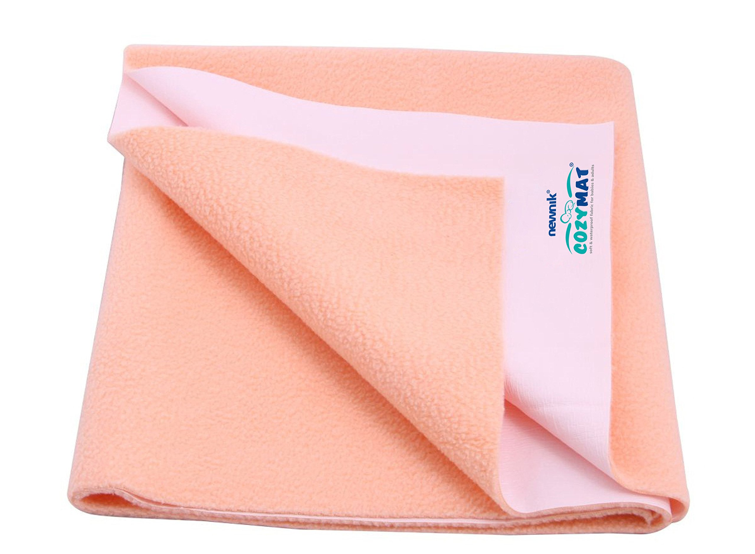 Cozymat Dry Sheet Waterproof Breathable Bed Protector (Size: 70cm X 50cm) Peach, Small by Cozymat