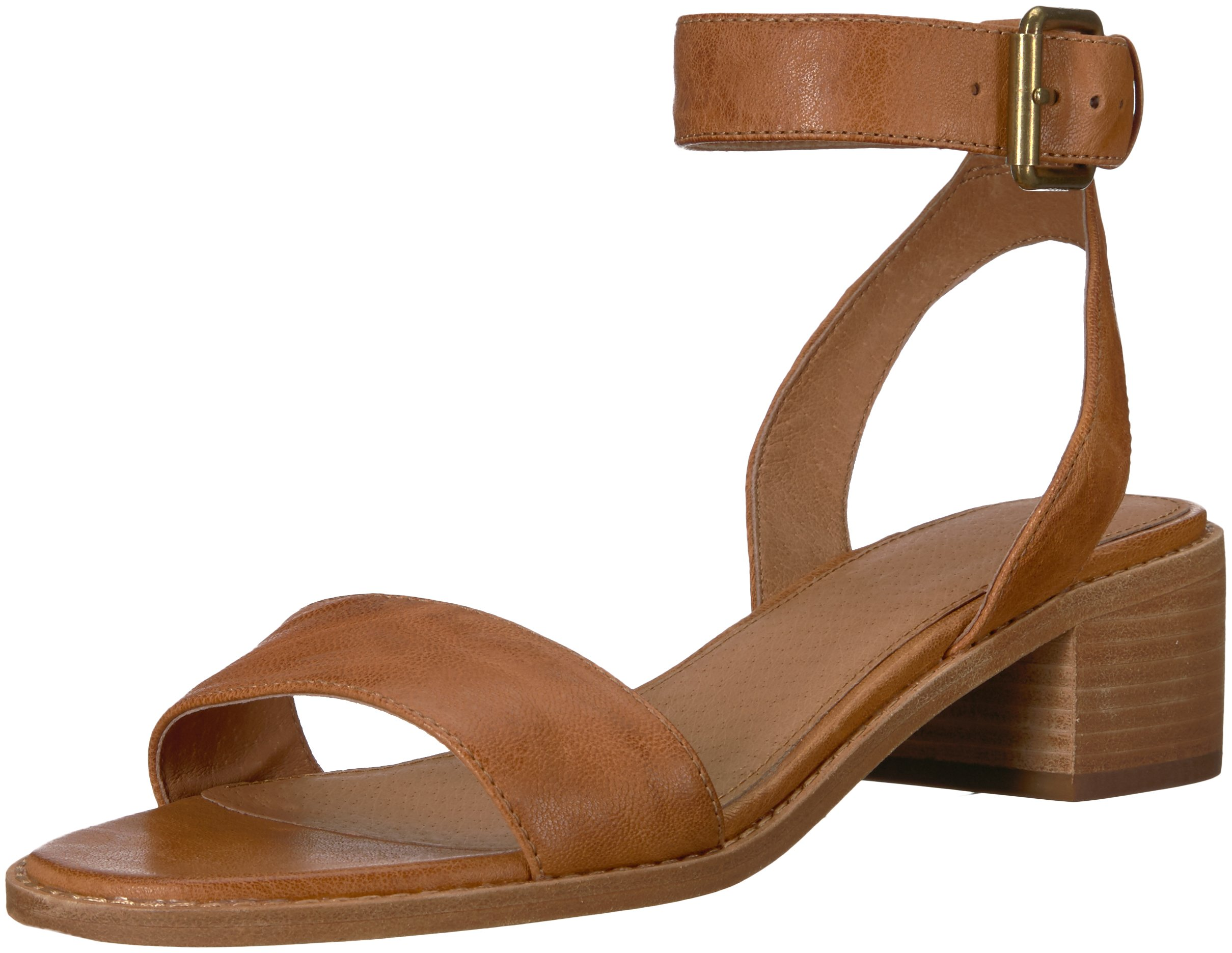 FRYE Women's Cindy 2 Piece Heeled Sandal, Camel, 9.5 M US