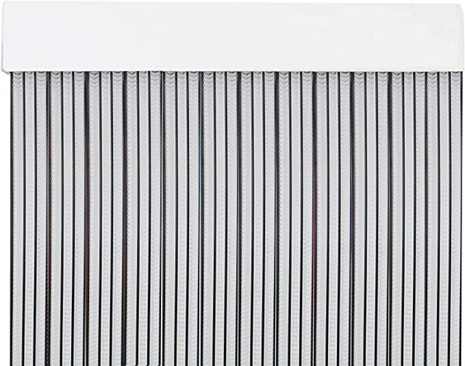 Cortina Puerta PVC Ancho Total 3 m para Supermercados Casas VEVOR Cortina Puerta PVC Transparente Impermeable Material Impermeable Transparente PVC 19 Tiras Total Tiendas F/ábricas etc 3x2,75 m