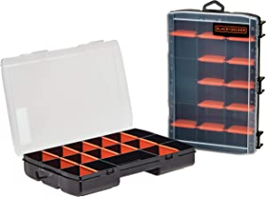 beyond by BLACK+DECKER 17-Compartment Tool Organizer (2 Pack) - Storage Case - Customizable, Easy Storage Solution - Tool Organizers and Storage (Model Number: BDST60779AEV)