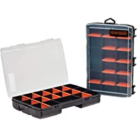 beyond by BLACK+DECKER Small Parts Organizer Box with Dividers, Screw Organizer & Craft Storage, 17-Compartment, 2-Pack…