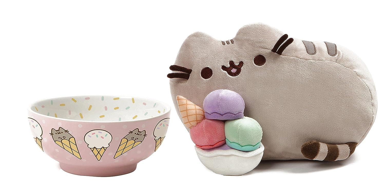 Pusheen Ice Cream Bowl and Pusheen Ice Cream Sundae Plush Gift Set