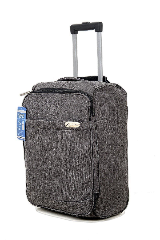Sac Trolley de Cabine avec étui Bagages Roues à main sacs de vol de costume pour Aigle Azur, Air France, Easyjet, Ryanair, Airlinair, Jet2 et beaucoup d'autres compagnies aériennes ou Voyage (Bleu) INTRAVEL-SLBLUE